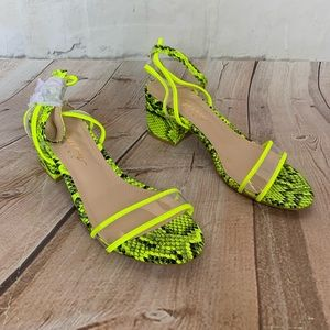 Mackin Girl Platform Ankle Strap Heels Size 7